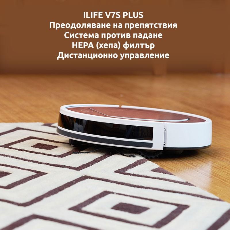ILIFE V7S PLUS ПРАХОСМУКАЧКА РОБОТ РОЗОВ С МОП